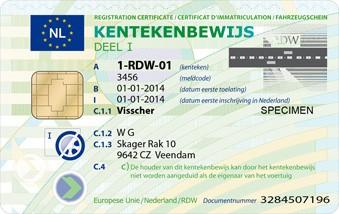 kentekenbewijs